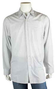 Hickey Freeman Mens Button Down Shirt Blue