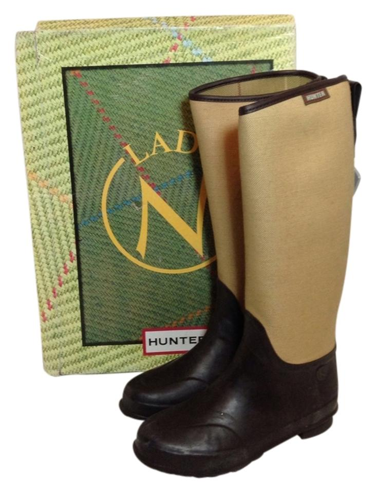 907514cc28d Hunter Brown Multicolor Box Lady N Tall Rainboots With Boots/Booties Size  US 9 10% off retail