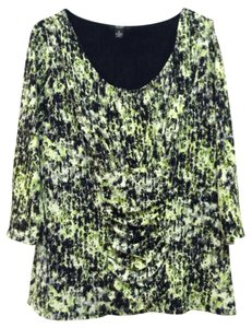 Alfani Top Green,black,white