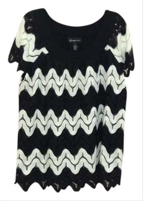 INC International Concepts Top Black/White