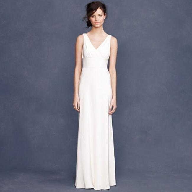 Item - Ivory Silk Tricotine Sophia Gown In Item 63050 Casual Wedding Dress Size 8 (M)