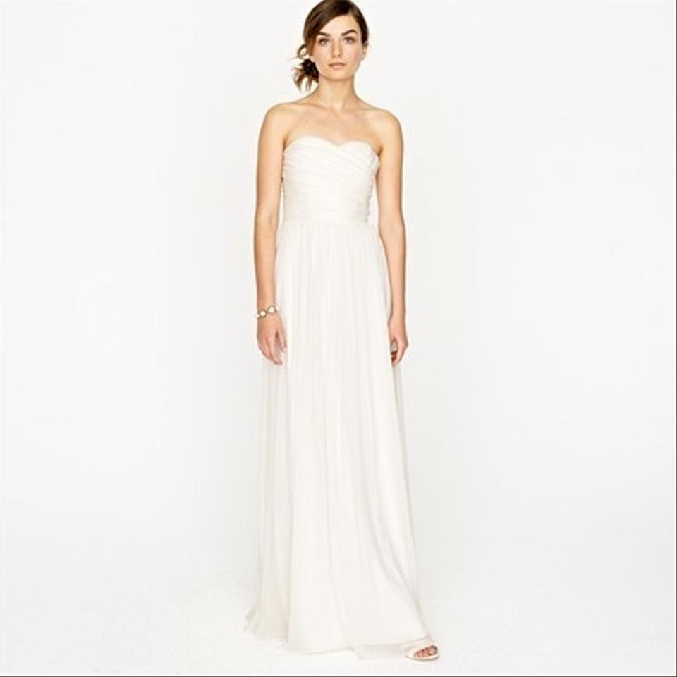 J.Crew Ivory Chiffon Arabelle Gown Feminine Wedding Dress Size 0 (XS ...