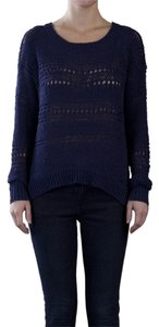 Twelfth St. by Cynthia Vincent Knit Casual Crochet Sweater