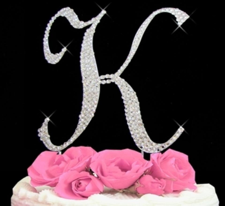 Letter F Wedding Cake Topper