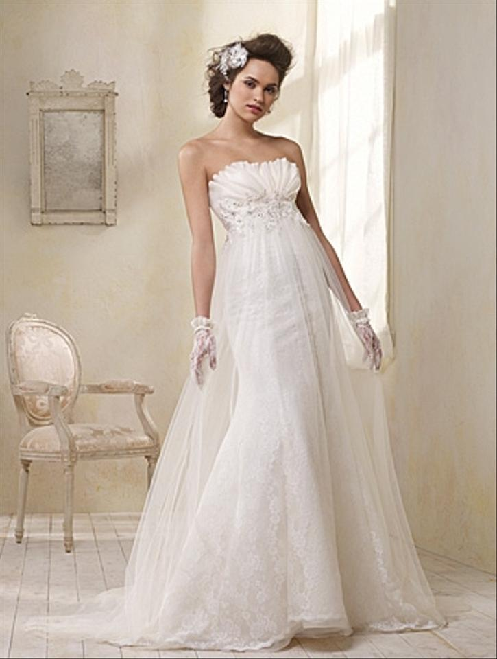 Alfred Angelo Ivory Net Over Lace Summer Organza Re-embroidered Lace ...