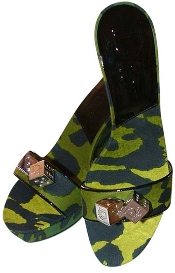 Dior Gambler Edgy Green Wedges