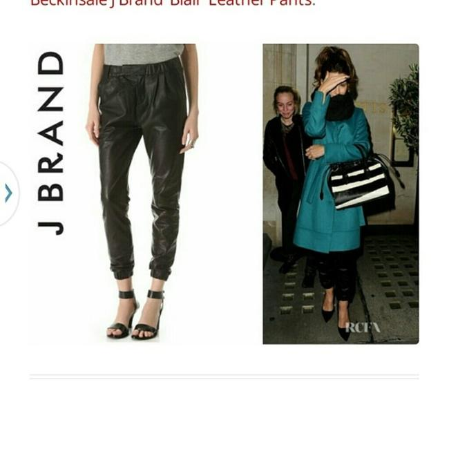 J Brand Leather Baggy Pants Black