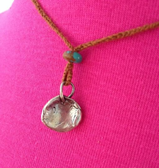 bluefly Sterling Silver & Rope Angel Necklace