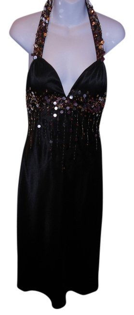 Frederick's of Hollywood Sequined Beaded Halter Size 8 Dress