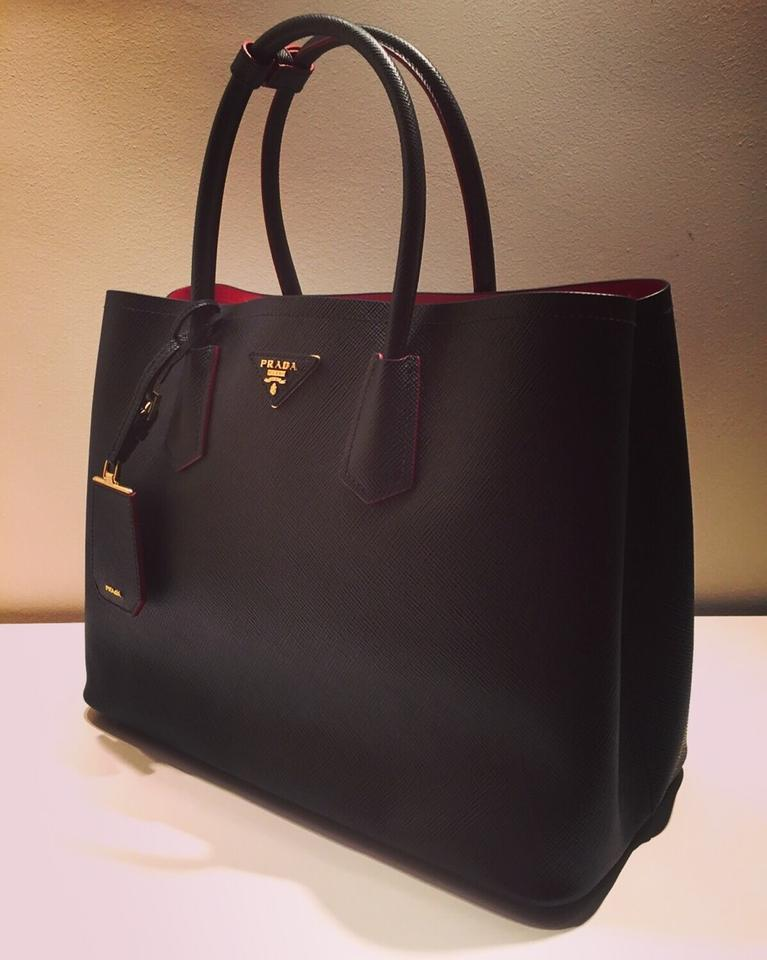 784cbcf1c345 12345678 aae79 35bc0 germany prada saffiano cuir b2756t black red interior leather  tote tradesy 0ea34 09549 ...