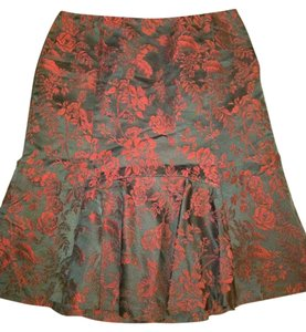 Ann Tayler Skirt Black /Burgundy