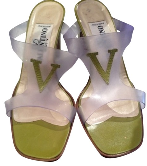 Valentino Clear & Green Sandals