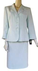 Kasper NWT KASPER Aqua Career Skirt Suit 12P Petite 12 Pale Green