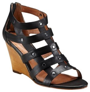Ballasox by Corso Como Leather Sandal Studded Night Out Black Wedges