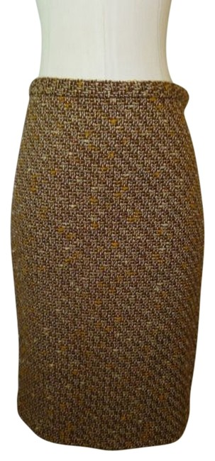 Ann Taylor Skirt Beige Gold & Brown