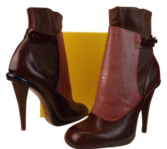 Item - Burgundy Victorian Pink Stingray Patent Leather Ankle Boots/Booties Size EU 41 (Approx. US 11) Regular (M, B)