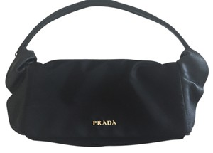 Prada Ruffle Leather Shoulder Bag