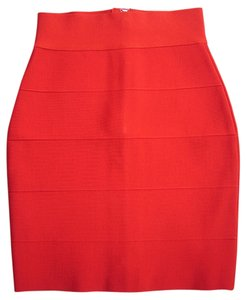 Other Trumpet Fishtail Cocktail Date Night Night Out Herve Celebrity Work Skirt Red