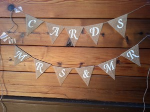 Mr. Mrs And Cards Burlap Banner (new)