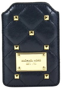 Michael Kors Michael Kors Quilted Studs Leather Phone Case in Black