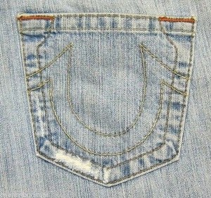 True Religion Bobby In Light Vintage Blue Rigid Boot Cut Jeans