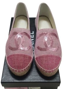 Chanel Espadrilles Size 38 pink Flats