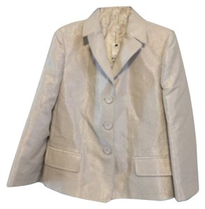 Ellen Tracy Metallic Ivory Blazer