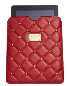 Michael Kors Michael Kors Quilted Stud Tablet Case in Red