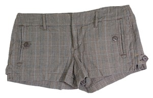 American Eagle Outfitters Dress Shorts BROWN PLAID