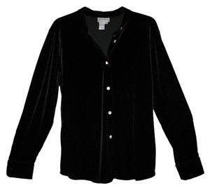 Coldwater Creek Velvet Stretch Top Black