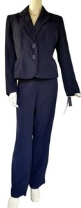 Larry Levine NWT LARRY LEVINE Navy Blue Lime Career Pantsuit Pants Suit 14