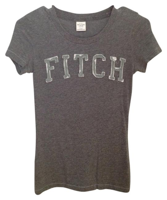 Abercrombie & Fitch T Shirt Gray with Green Lettering