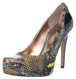 BCBGeneration Hidden Platform Platform Leather Patent Leather Snakeskin Multi Color Pumps