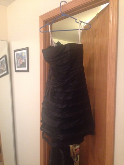 B2 Black Polyester Formal Bridesmaid/Mob Dress Size 8 (M)