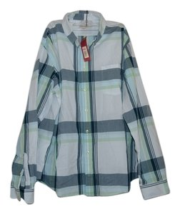 Merona Men Button Down Stripes Button Down Shirt White,baby blue,sea green,denim blue