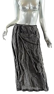 Shirin Guild Metallitc Skirt Steel Grey