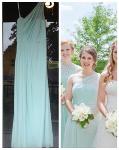 David's Bridal Mint Long One Shoulder Dress - David's Bridal # F15928 Dress