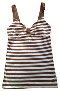 American Eagle Outfitters Top Brown and white