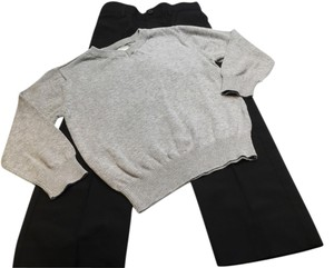 Cherokee Boys Black Dress Pant & V-Neck Sweater [ TommiesCloset ]