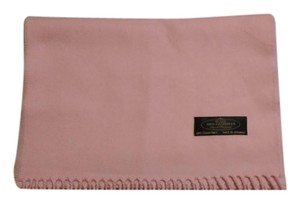 Hand-Tailored 100% Cashmere Pink Scarf