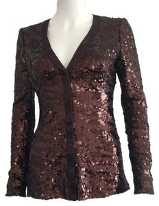 Rachel Zoe Sequin Top Brown
