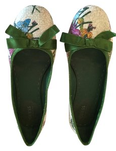 Guess By Marciano white/green Flats