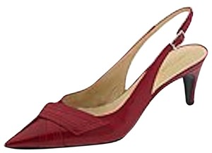 Bruno Magli Red Calf Pumps