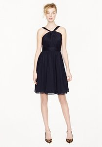 J.Crew Black Sinclair Dress In Silk Chiffon Item 49388 Dress