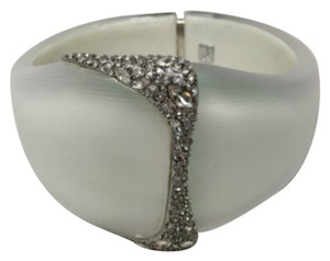 Alexis Bittar Crystal Encrusted Lucite Hinged Bangle