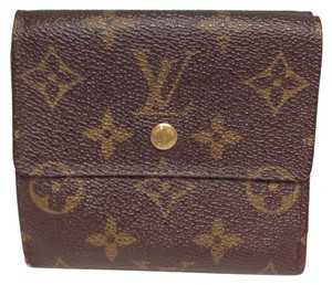 Louis Vuitton Louis Vuitton #3362 Monogram Double Sided Sqaure Wallet Pocket Bill Holder Card Case Coin Purse