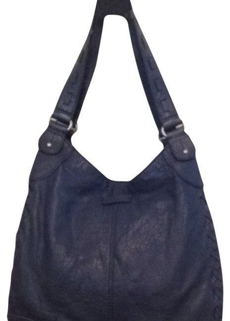 Item - Purse Steel Blue Leather Hobo Bag