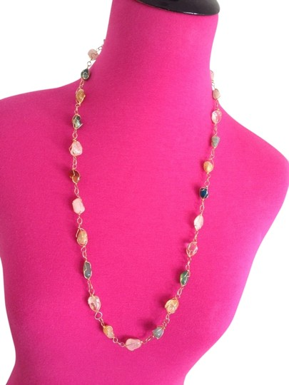 Preload https://item3.tradesy.com/images/multicolor-new-30-multi-gemstone-gold-tone-necklace-780847-0-0.jpg?width=440&height=440