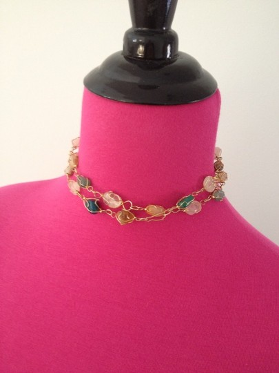 """Other New 30"""" Multi-gemstone Gold Tone Necklace"""