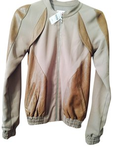 WAYNE BROWN/light brown Leather Jacket